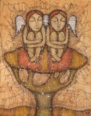 На деревах не листя,  а янголів крила…