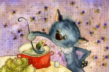 Кіт Мурлика зголоднів