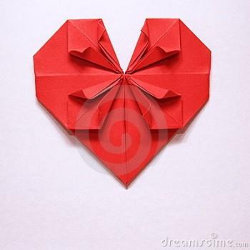 Сердечко орігамі