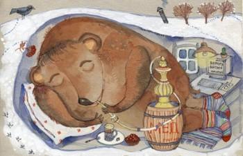 У ведмедя хата біла