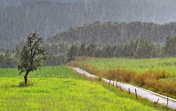 Дощ періщить