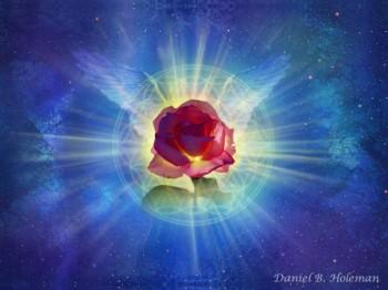 Небесний квітучий мотив
