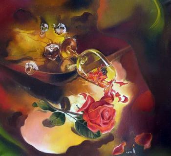 Троянда нічного вина