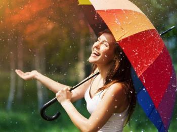 Веселковий дощ!