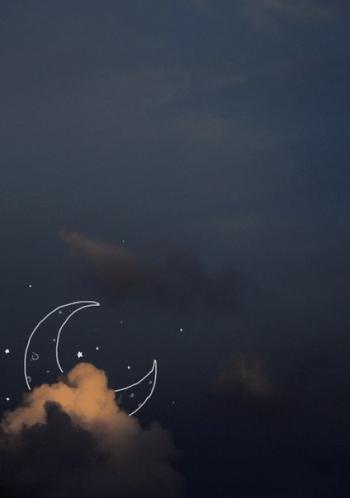 Місяць із світлим диском