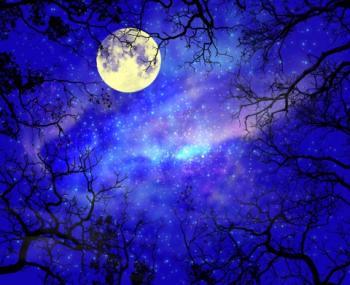 Звисає місяць...