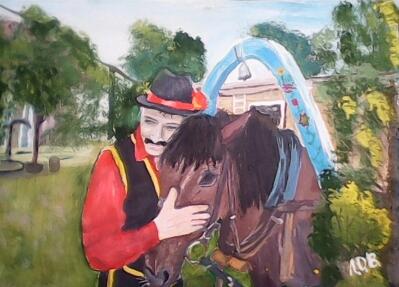 I знову конi,  цигани...