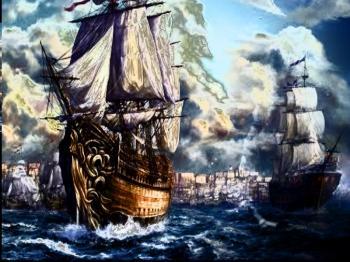 Вже кораблі заснули у портах...