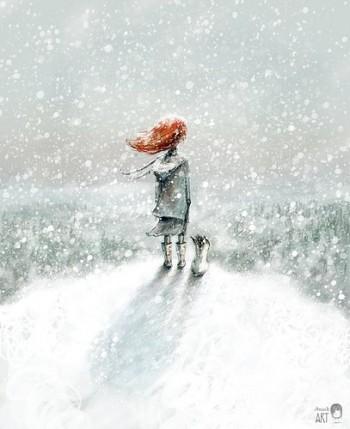 Тихо падає сніг
